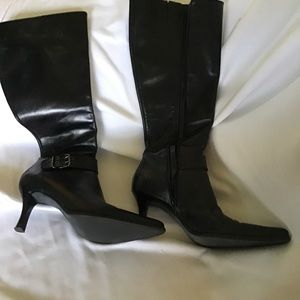 Franco Sarto  Womens black Leather Over Knee Boots